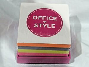 Office Style Sticky Note Pad Block Multi Color With Holder 3 25 By 3 25