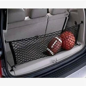 Car Suv Trunk Rear Cargo Organizer Storage Net Elastic Nylon Hammock Holder Mesh