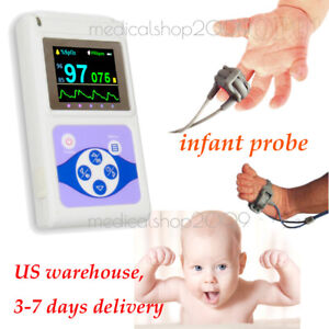 Cms60d Hand held Pulse Oximeter blood Oxygen Monitor neonatal Probe pc Software