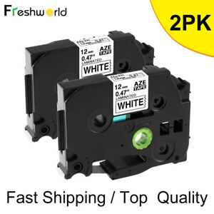 2pcs Black On White Label Tape Compatible For Brother Tz Tze 231 P touch Tze231