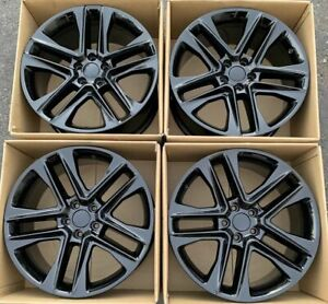 20 Ford Explorer Wheels Rims Gloss Black Factory Oem 2016 2017 2018 Set 4 10060