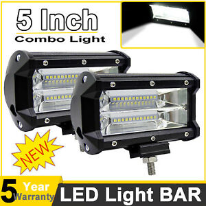 5inch 720w Led Work Light Car Spot Bar Off Road Fog Lamp 4wd Ute Atv Suv Truck