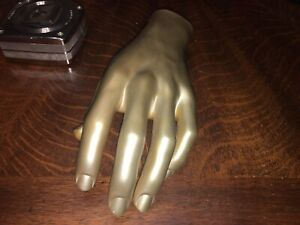 Vintage Mannequin Hand Left Nice Used Shape Free Ship Inside The Us Male Gold