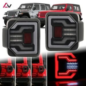 2018 Jeep Wrangler Jl Jlu Sport Rubicon Drl Led Sequential Tail Lights Smoke