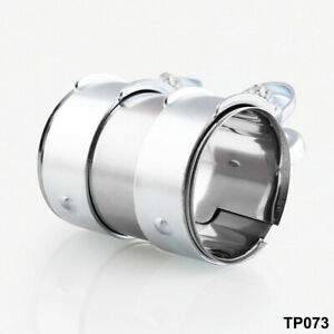 Mild Steel Pipe Clamp 2 5 Id For Turbo exhaust downpipe muffler catback cat