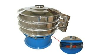 Stainless Steel Vibrating Screen Sieve Shaker 39 3 diameter 220v High Quality