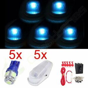 Qty5 Clear Cab Marker Clearance Lights W us Fast 5050 Led Roof Running Lamp Kit