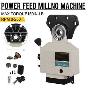 As 250 150lbs Torque Power Feed For X Axis Vertical Milling Machine 0 200 Rpm