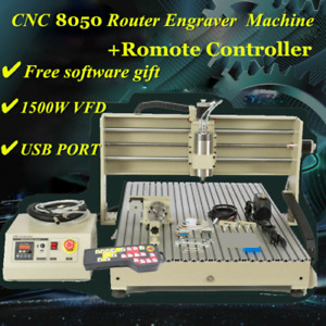 Usb 4axis 8050 Cnc Router Engraver Metal Drilling Milling Machine 3d Cutter Rc
