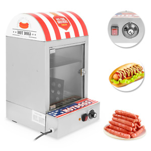 110v 1500w Commercial Hot Dog Steamer Warmer Cooker Machine Electric Countertop