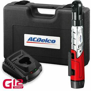 Acdelco Arw1201 Cordless 3 8 Ratchet Wrench 57 Ft Lb Max Torque 2 Batteries Kit