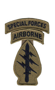 Special Forces OCP Patch w Airborne Special Forces Tab w Hook Fastener No Space $6.00