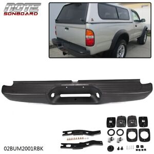 New Black Complete Rear Bumper Assembly For 1995 2004 Toyota Tacoma Pickup
