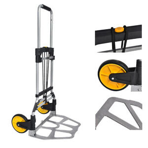 Portable Folding Hand Truck Dolly Moving Stair Climber Luggage Cart Wheels 264lb