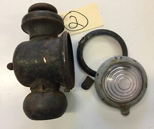 Ford Model T Early Years Gas Lamp W Extra Door For Parts Or Restore Inv 2