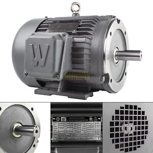 5 Hp 3 Phase Electric Motor C face 1800 Rpm 184tc Tefc 230 460 Volt Severe Duty