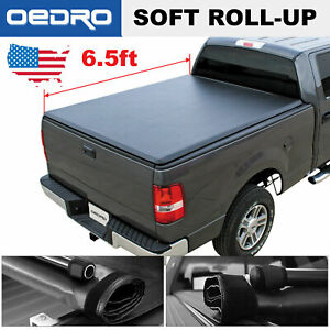 Soft Roll Up Truck Bed Cover For 2002 2019 Dodge Ram 1500 2500 3500 6 5ft Bed