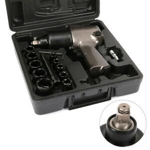 1 2 Square Drive Air Impact Wrench Sockets Set Pneumatic Tool 8000rpm New 14pcs
