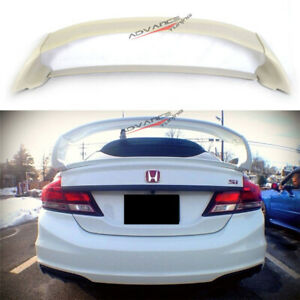 12 15 Honda Civic Mugen Style Abs Rear Trunk Spoiler Wing 4pcs Jdm