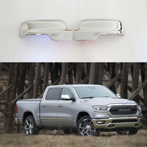 For 2019 2020 Dodge Ram 1500 Sideview Mirror Cover Caps Abs Chrome Silver