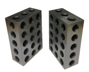 1 Matched Pair Ultra Precision 2 4 6 Blocks 23 Holes 0002 Machinist
