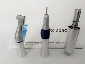 Dental Low Speed Handpiece Nsk Ex 203c Wrench Contra Angle Air Motor 2 Holes Set
