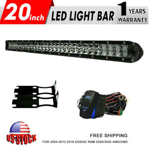20 100w Combo Led Light Bar Bracket For 2004 13 2016 Dodge Ram 2500 3500 4wd 2wd