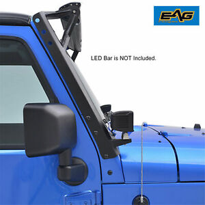 Eag Fit 07 18 Jeep Wrangler Jk 52 Inch Led Light Bar Windshield Mount Brackets