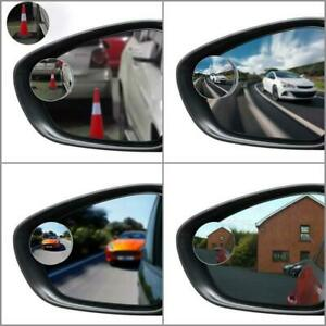 New 2x 360 Round Blind Spot Mirror Hd Glass Frameless Convex Rear View Stick On