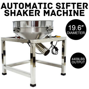 Used 19 6 Electric Vibrating Sieve Machine Automatic Sifter Shaker