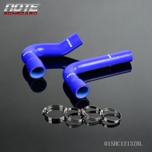 For 1967 1970 Ford Mustang Falcon Fairlane V8 Silicone Radiator Hose Kit Blue