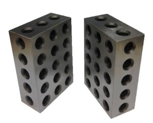 1 2 3 Block Set Matched Pair With 23 Holes Per Block Hrc 55 To 60