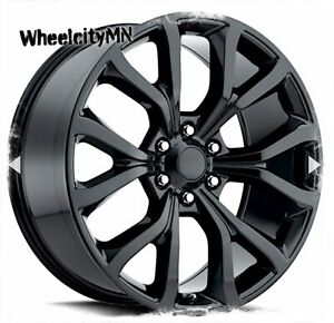 22 Inch Gloss Black 2018 Ford Expedition Platinum Oe Replica Wheels F150 6x135