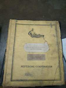 Pettibone Operators And Service Instructions service Manual Model 25 Mk