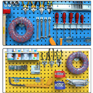 Tool Storage Garage Peg Board Wall Kit Display Organizer Hanger Steel
