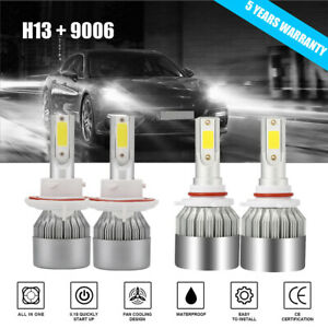 4 Side H13 Cree Led Headlight 9145 Fog Lights For 2004 2014 Ford F 150 2500w
