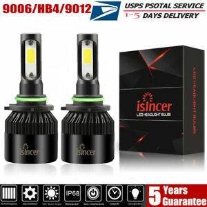 2pcs 9006 Led Headlight Bulb Kit Cree 1860w 180000lm 6500k High Power Fog Bulbs