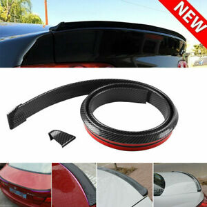 Universal 4 9ft Carbon Fiber New Spoiler Rear Roof Lip Sport Wing Trunk Molding