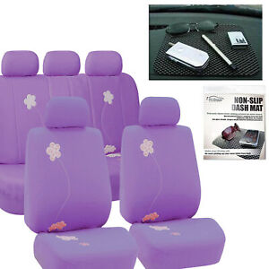 Car Seat Covers Best Full Set In Purple For Car Suv Free Gift Dash Grip Pad