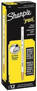 Sanford China Marker Grease Pencil Peel off Sharpie White 2 Pack By Sharpie
