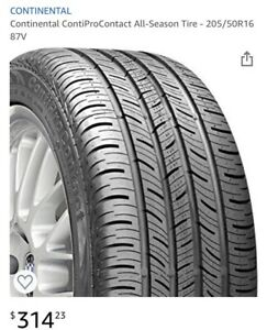 One Continental Contiprocontact All Season Tire 265 35 R18