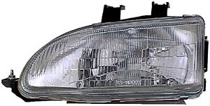 Fits 1992 1995 Honda Civic Driver Left Front Headlight Lamp Assembly