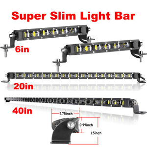 7 20 40 inch Single Row Cree Led Light Bar Slim Spot Flood Offroad 4wd wiring
