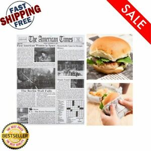 2000 pack 16 X 12 Newspaper Print Wax Coated Deli Sandwich Wrap Paper Sheets