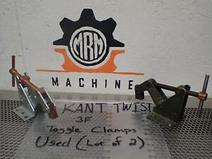 Kant Twist 3f Work Holding Clamps Used With Warranty lot Of 2