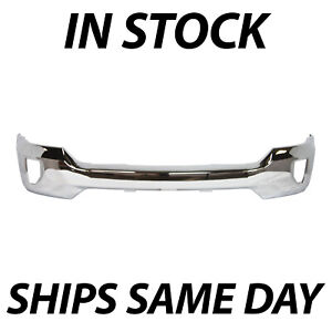 New Chrome Steel Front Bumper Face Bar For 2016 2018 Chevy Silverado 1500 W Fog