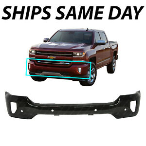 New Primered Front Bumper Face Bar For 2016 2018 Chevy Silverado W Fog