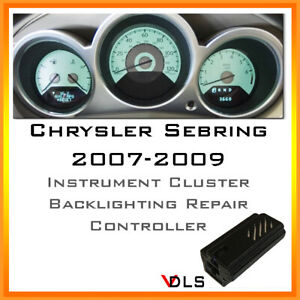 2007 2009 Chrysler Sebring Instrument Cluster Backlighting Vdls Controller