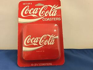 COCA-COLA  DRINK COASTERS SET OF 6 VINTAGE COCA-COLA COASTERS ORIIGINAL PACKAGE
