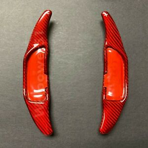 Red Carbon Fiber Steering Wheel Shift Paddle Extension For 15 19 W205 C63 Amg